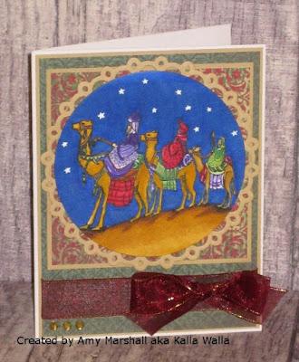 ODBD We Three Kings, ODBD Christmas Paper Collection 2013, ODBD Customer Card of the Day by Amy Marshall aka Kalla Walla