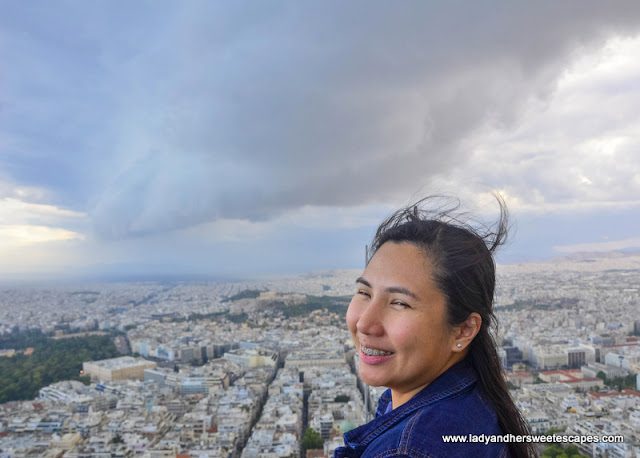 Lady in Mount Lycabettus