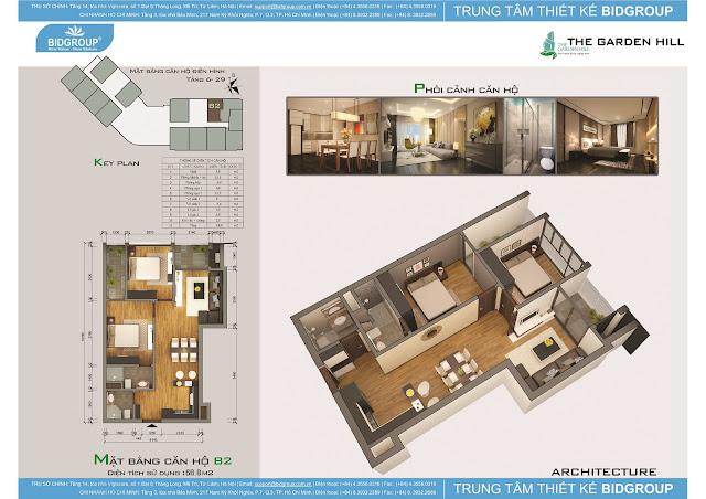 Căn hộ B2 tầng 6-29, diện tích 68m2