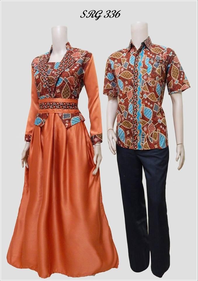 Baju Batik Couple Model Gamis Remaja Srg 336