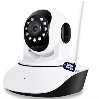 Best CT V380 Wifi HD720 P2P CCTV Camera with 2 Way Audio Motion Sensor Alarm and Micro SD Slot - Putih