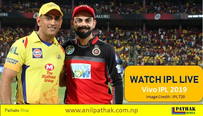 Watch IPL Live 2019, vivo ipl 2019, ipl teams