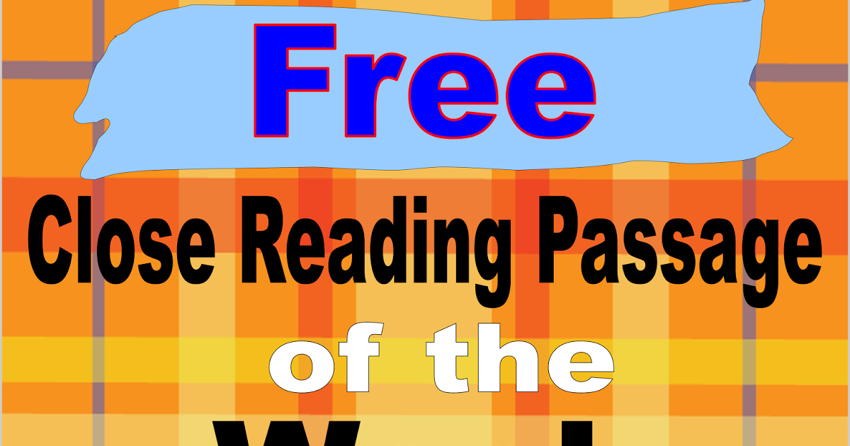 Literacy & Math Ideas: Free Close Reading Passage of the Week