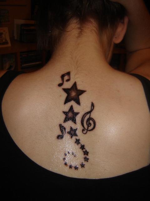Mehendi Tattoo for Neck