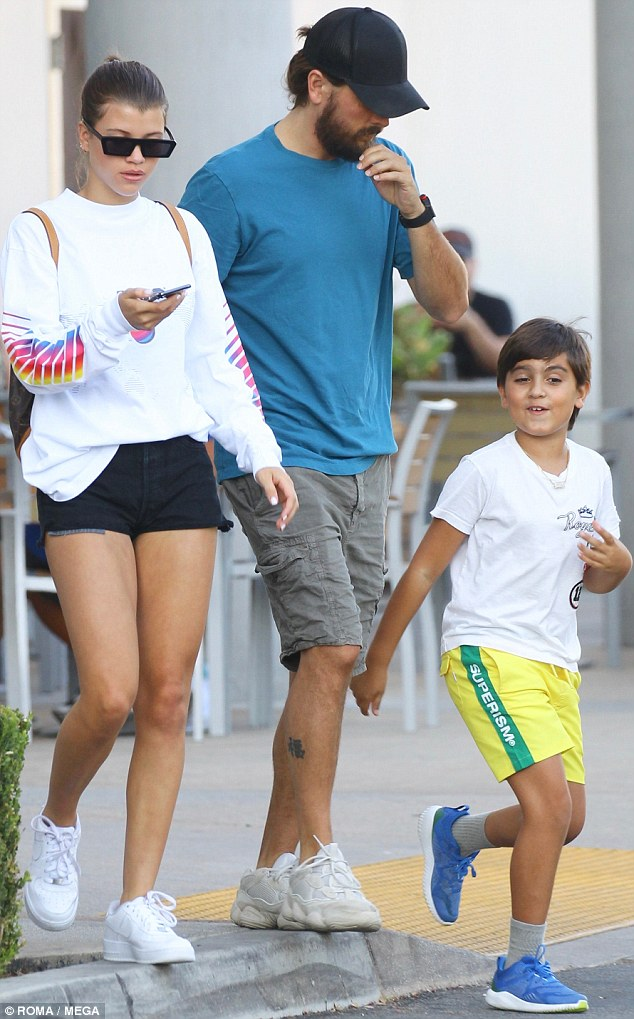 Scott Disick treats girlfriend Sofia Richie to ice cream while out with son Mason in LA