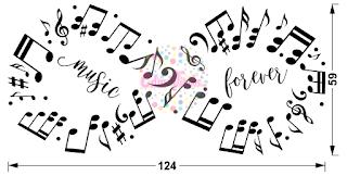 vinilo decortivo infinito pentagrama musical frase