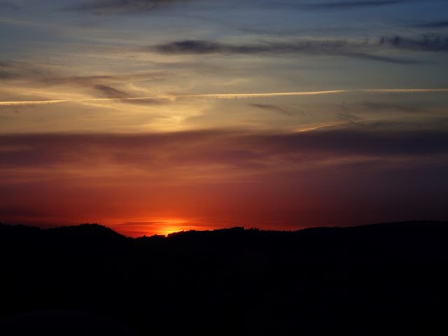 Zachód słońca nad Beskidami