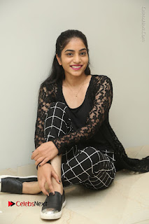 Actress Punarnavi Bhupalam Stills in Black Dress at Pittagoda Press Meet  0120.JPG