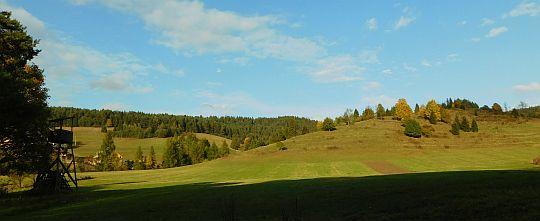 Łąki u wyjścia z terenów dawnej wsi Biała Woda.