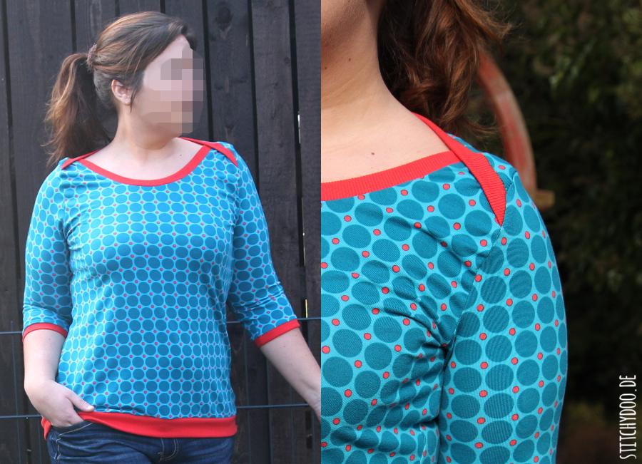 stitchydoo: Shirt mit amerikanischem Ausschnitt | #mehrkleidungnähen2015