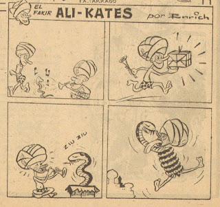 El fakir Ali-Kates (Chicolino Extra Primavera 1952)