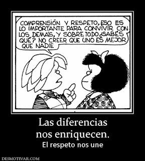 Respeto de las diferencias