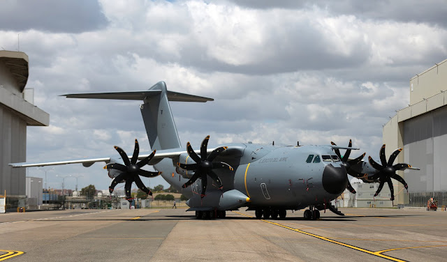 El primer A400M para España ya luce los colores del Ejército del Aire