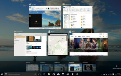 gesture windows 10 multitasking tre dita