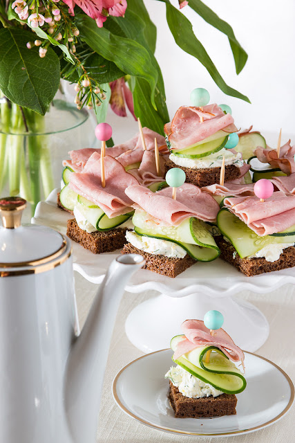 Fast and Fancy Philadelphia Cream Cheese Tea Sandwiches