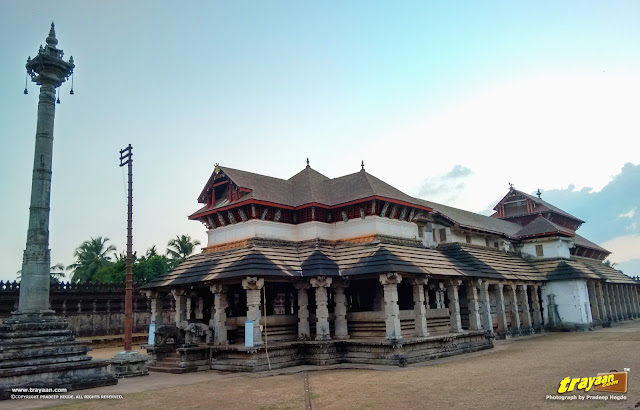 Thousand Pillared Jain Temple in Moodabidri, near Mangalore, Karnataka, India - called as Tribhuvana Tilaka Chudamani basadi or Chandranatha basadi, also known as Saavira Kambada Basadi in Dakshina Kannada district, near Mangalore, Mangaluru, Karnataka, India