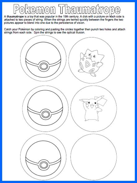 image about Thaumatrope Printable identified as 1 For The Publications: Pokemon Thaumatrope