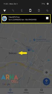 Fake GPS Go pilih lokasi kota target