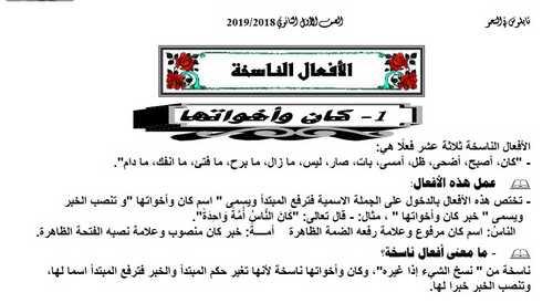 أفضل ملخص في النحو أولى ثانوي ترم أول 2019 أ. أحمد درديرى
