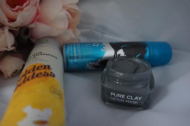 Dry Shampoo, L'oréal Pure Clay detox mask