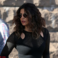 Priyanka Chopra in a Stunning Black Net Top shooting for Quantico 3 ~  Exclusive Galleries 019.jpg