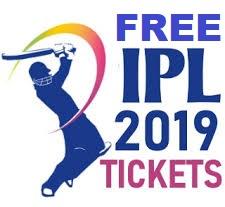 Free VIVO Indian Premier League IPL 2019 match tickets