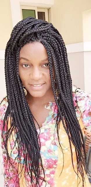 Queen's Braided Weekend: Nollywood Actress Queen Nwokoye Wants To Make it A Braided Weekend. Check Her Out!