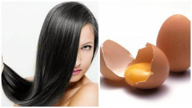 huevo para cabello brillante