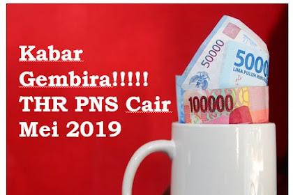 Kabar Gembira! THR PNS Cair Mei 2019