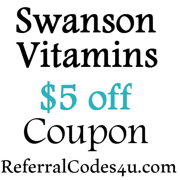 $5 off Swanson Vitamins Promo Code 2017, Swanson Vitamins FREE Shipping Coupon June, July, August, September, October 2016-2017