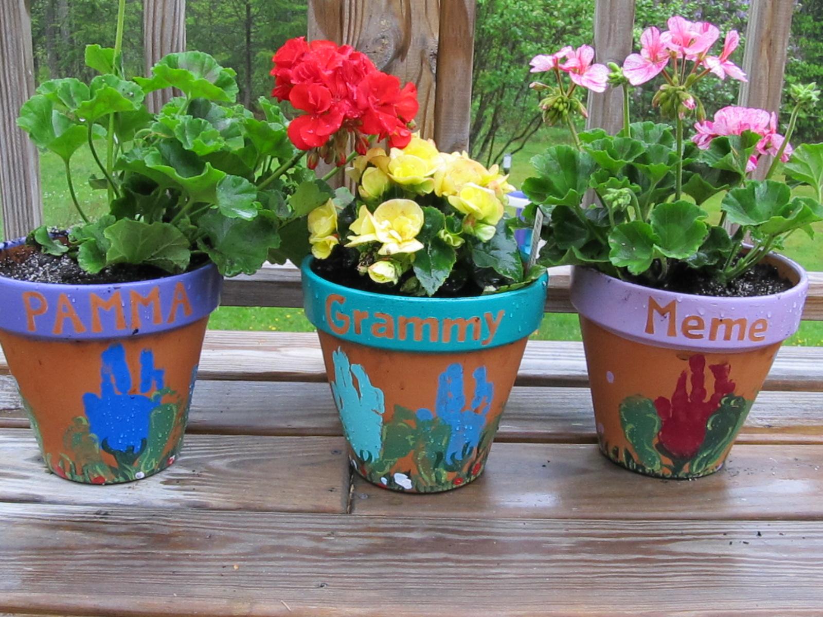 Kitchen Floor Crafts Mother S Day Flower Pots