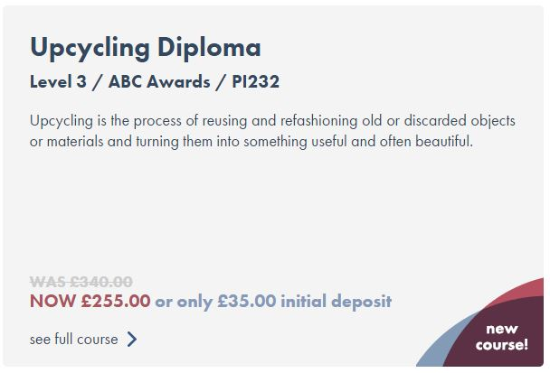choosing an upcycling diploma with online learning