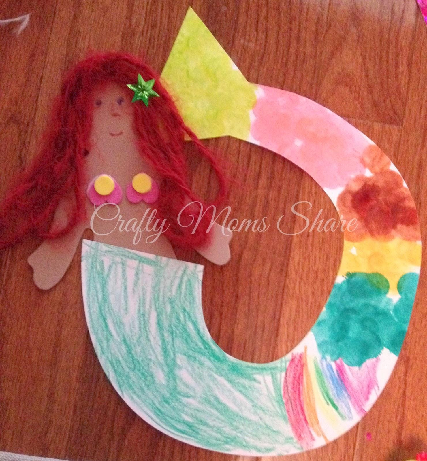 Crafty Moms Share Creative Mermaid Craft