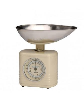 Foto van Bol.com:Typhoon vintage-keukenweegschaal-crème