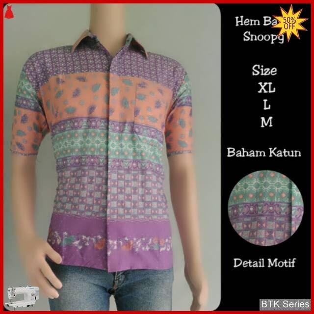 BTK157 Baju Hem Snoopy Batik Modis Murah BMGShop