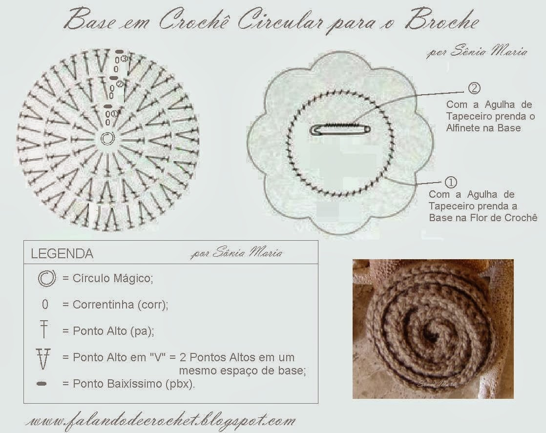 Falando de crochet flor de croche caracol crochet flower falando de crochet ccuart Image collections