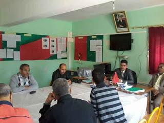 كلميم :المدير الاقليمي للتعليم في لقاء تواصلي مع  شركاء اعدادية الشيخ