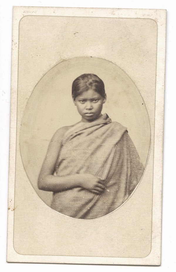 Albumen Photogrph of an Assamese Girl - c1880's