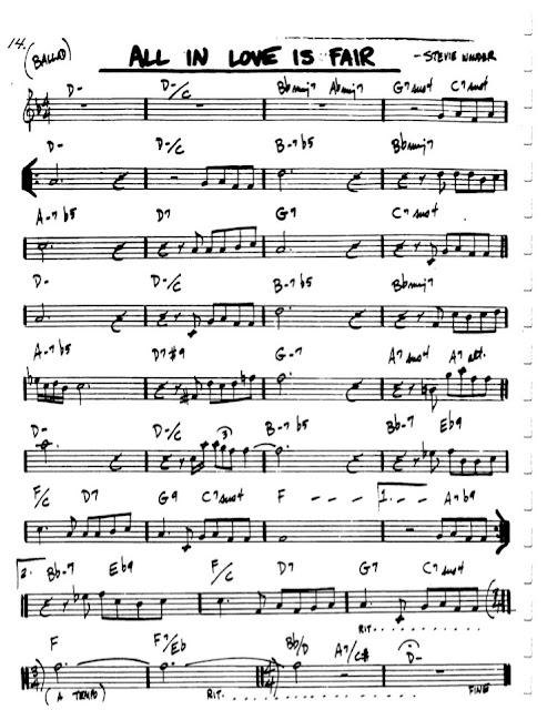 Partitura Violín Stevie Wonder