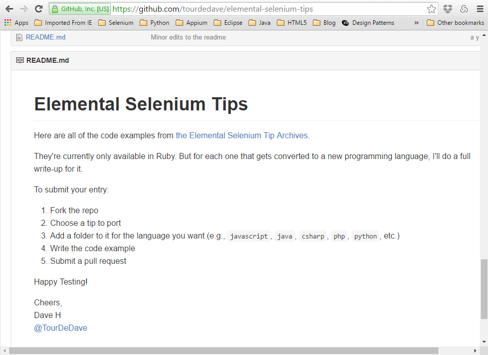 Adventures in Automation: Elemental Selenium code examples