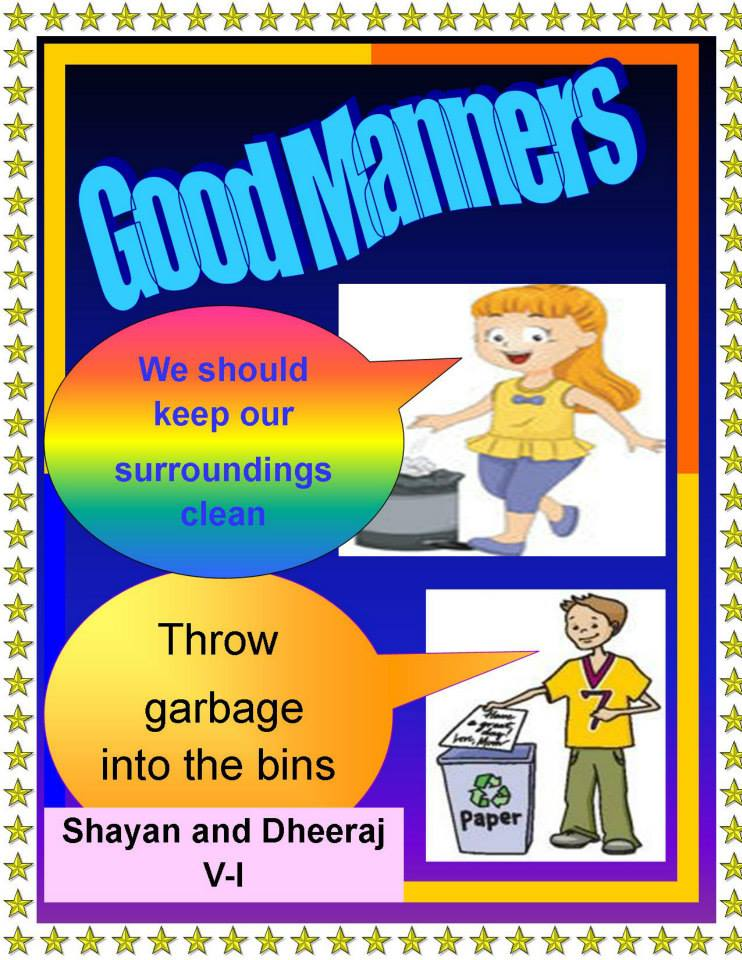 bss class v ict activities posters on good manners on microsoft
