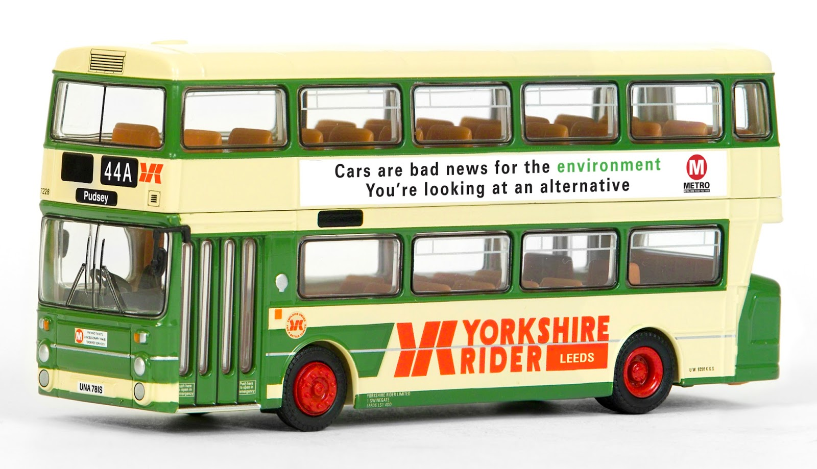 EFE 28909 - GM Standard Atlantean - Yorkshire Rider Leeds Our GM Standard Atlantean adds to the model fleet of Yorkshire Rider vehicles. Registered UNA 781S, fleet number 6419 works route 44A to Pudsey and fits in nicely with our Leeds Bristol VR III.  RRP £32.50