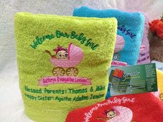 handuk bordir jombang (souvenir kelahiran)
