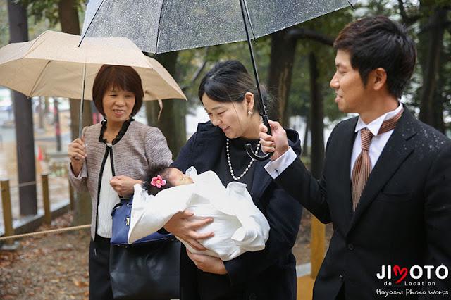 春日大社のお宮参り出張撮影