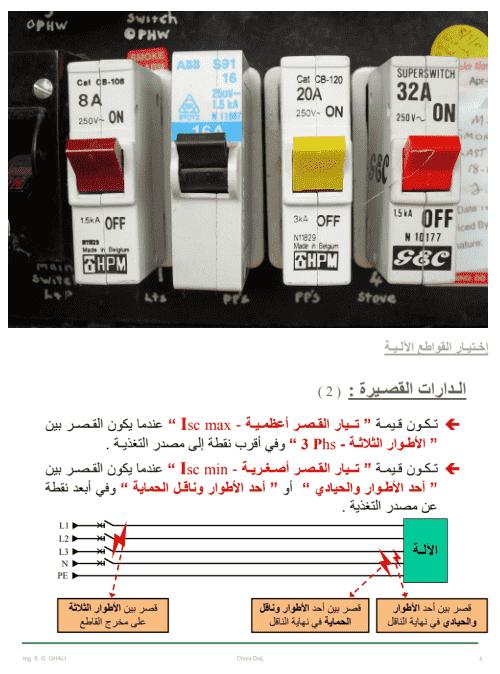 انواع القواطع الكهربائية pdf