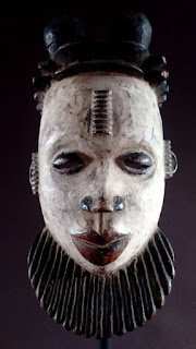 Máscara Ogoni. Frente