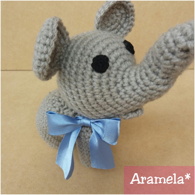 Aramela Artesanías: Elefante mini amigurumi (con patrón)
