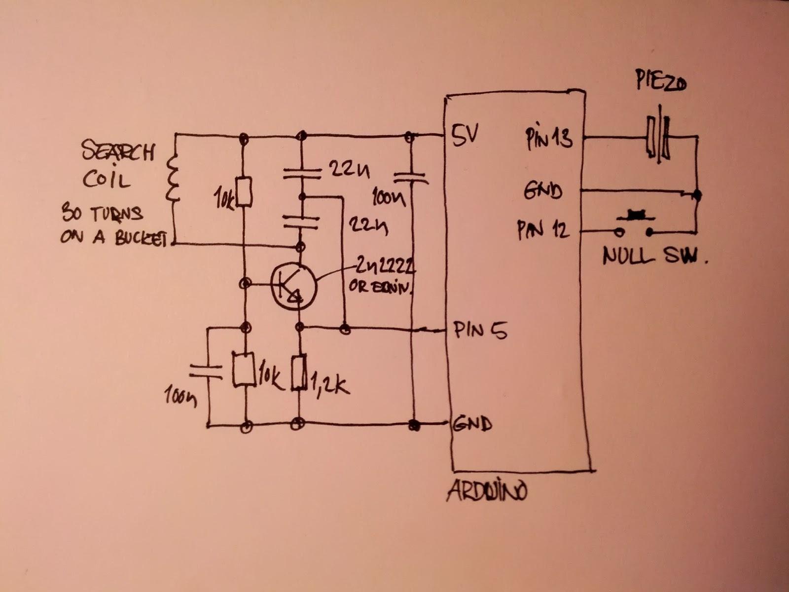Metal Detector Circuit Diagram Basic Op S Circuits Metal Detector