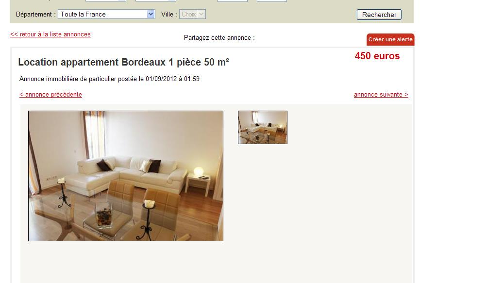 2 zimmer wohnung zu vermieten for Location appartement particulier bordeaux