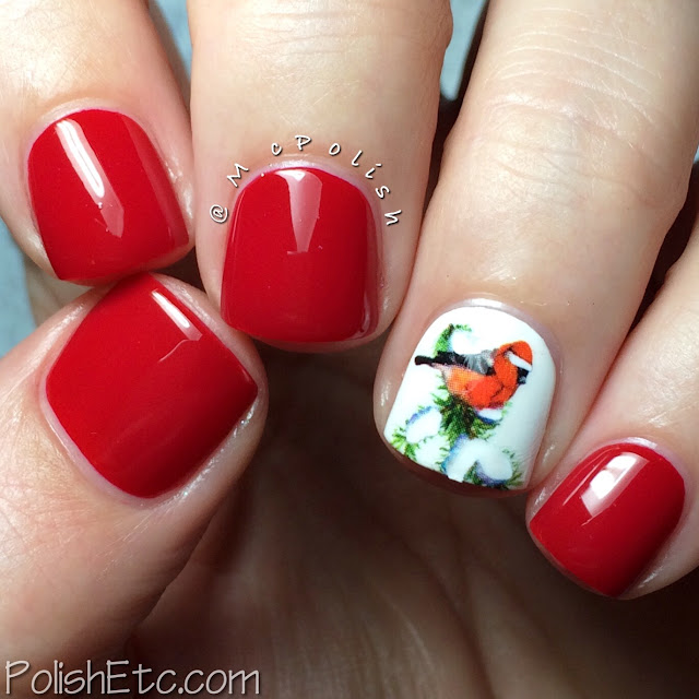 KBShimmer - Chilly Pepper and Winter Birds Waer Slide Decals - McPolish